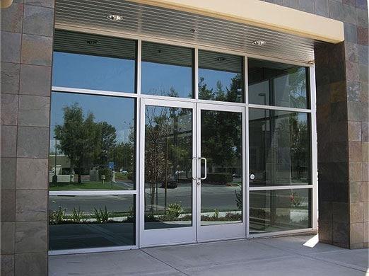 Commercial door aluminum doors aluminum windows for Commercial aluminum storefront door